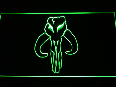 Image of Star Wars Bounty Hunter LED Neon Sign - Green - SafeSpecial