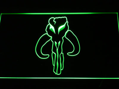 Star Wars Bounty Hunter LED Neon Sign - Green - SafeSpecial