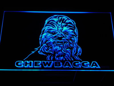 Star Wars Chewbacca LED Neon Sign - Blue - SafeSpecial
