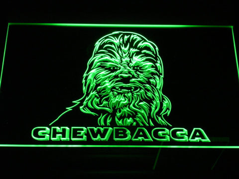 Image of Star Wars Chewbacca LED Neon Sign - Green - SafeSpecial