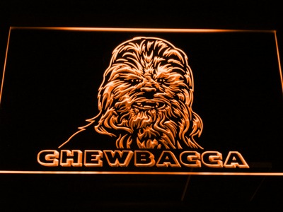 Star Wars Chewbacca LED Neon Sign - Orange - SafeSpecial