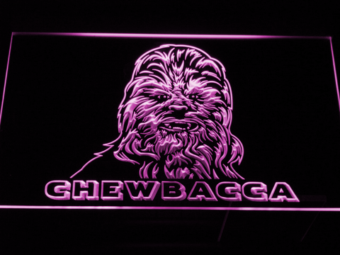 Image of Star Wars Chewbacca LED Neon Sign - Purple - SafeSpecial