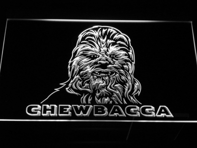 Star Wars Chewbacca LED Neon Sign - White - SafeSpecial