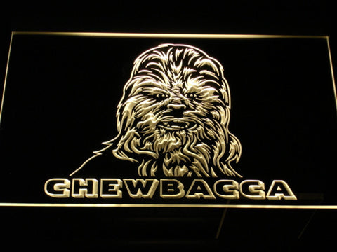 Image of Star Wars Chewbacca LED Neon Sign - Yellow - SafeSpecial