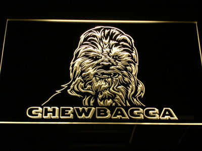 Star Wars Chewbacca LED Neon Sign - Yellow - SafeSpecial