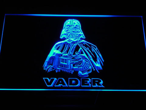 Image of Star Wars Darth Vader LED Neon Sign - Blue - SafeSpecial