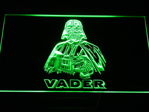 Image of Star Wars Darth Vader LED Neon Sign - Green - SafeSpecial