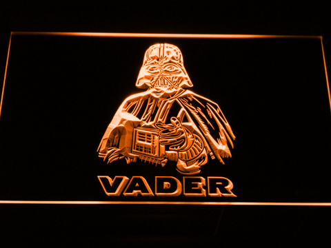 Image of Star Wars Darth Vader LED Neon Sign - Orange - SafeSpecial