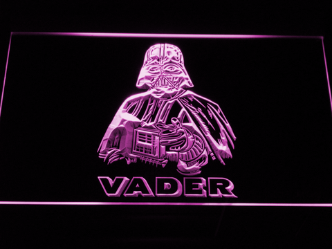 Image of Star Wars Darth Vader LED Neon Sign - Purple - SafeSpecial