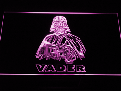 Star Wars Darth Vader LED Neon Sign - Purple - SafeSpecial
