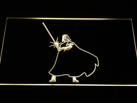Image of Star Wars Darth Vader Light Saber LED Neon Sign - Yellow - SafeSpecial
