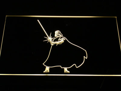 Star Wars Darth Vader Light Saber LED Neon Sign - Yellow - SafeSpecial