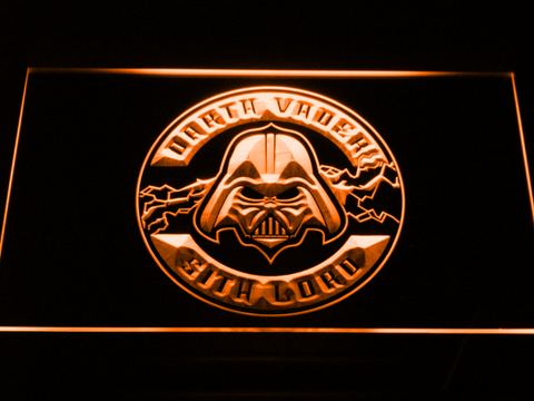 Image of Star Wars Darth Vader Sith Lord LED Neon Sign - Orange - SafeSpecial