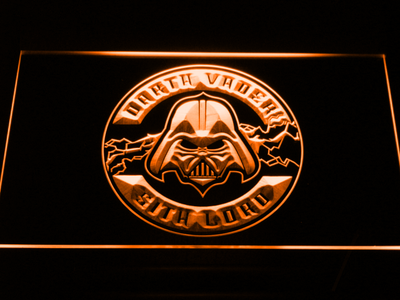 Star Wars Darth Vader Sith Lord LED Neon Sign - Orange - SafeSpecial