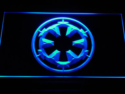 Star Wars Galactic Empire LED Neon Sign - Blue - SafeSpecial