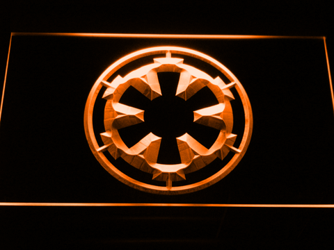 Image of Star Wars Galactic Empire LED Neon Sign - Orange - SafeSpecial