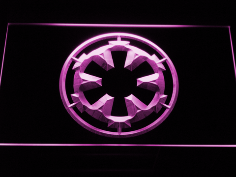 Image of Star Wars Galactic Empire LED Neon Sign - Purple - SafeSpecial