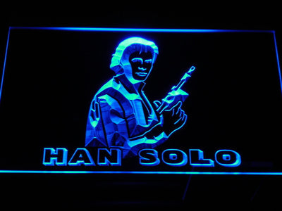 Star Wars Han Solo LED Neon Sign - Blue - SafeSpecial