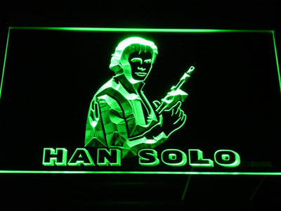 Star Wars Han Solo LED Neon Sign - Green - SafeSpecial