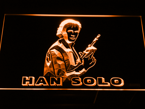 Image of Star Wars Han Solo LED Neon Sign - Orange - SafeSpecial