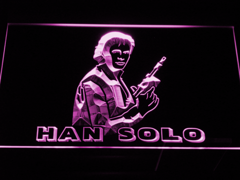 Image of Star Wars Han Solo LED Neon Sign - Purple - SafeSpecial