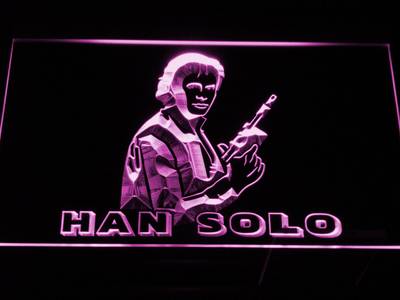 Star Wars Han Solo LED Neon Sign - Purple - SafeSpecial