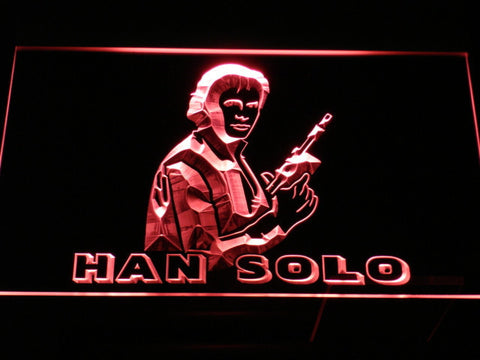 Image of Star Wars Han Solo LED Neon Sign - Red - SafeSpecial