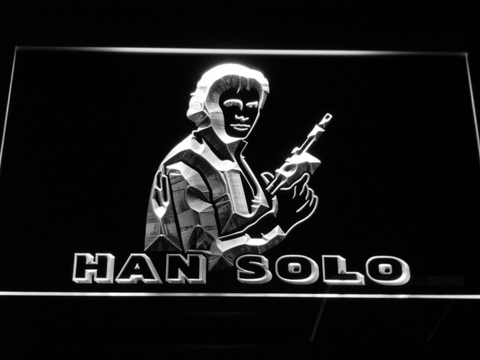 Image of Star Wars Han Solo LED Neon Sign - White - SafeSpecial