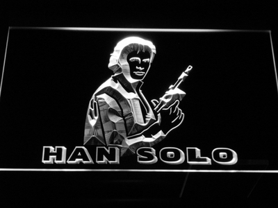 Star Wars Han Solo LED Neon Sign - White - SafeSpecial