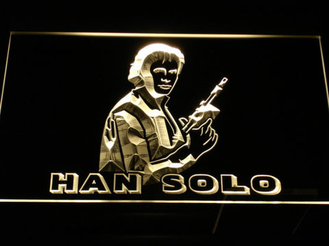 Image of Star Wars Han Solo LED Neon Sign - Yellow - SafeSpecial