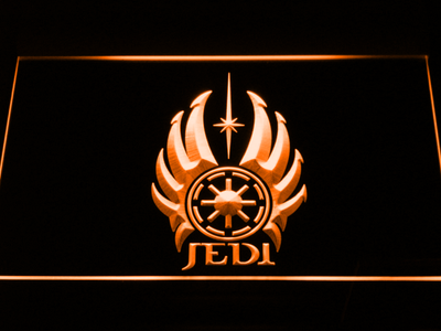 Star Wars Jedi Code LED Neon Sign - Orange - SafeSpecial