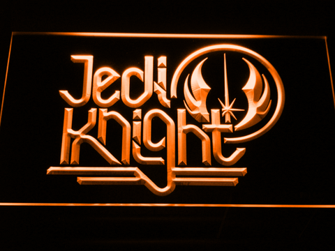 Image of Star Wars Jedi Knight LED Neon Sign - Orange - SafeSpecial