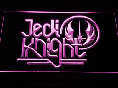 Star Wars Jedi Knight LED Neon Sign - Purple - SafeSpecial