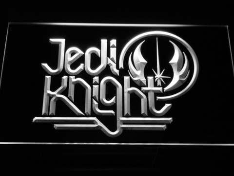 Image of Star Wars Jedi Knight LED Neon Sign - White - SafeSpecial
