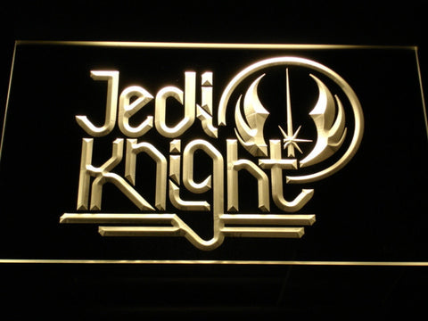 Star Wars Jedi Knight LED Neon Sign - Yellow - SafeSpecial