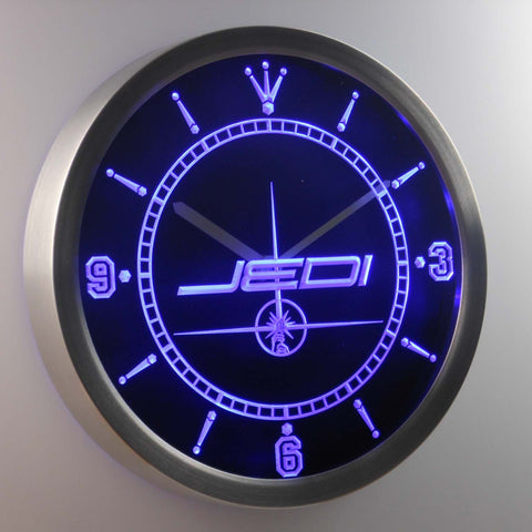 Star Wars Jedi LED Neon Wall Clock - Blue - SafeSpecial