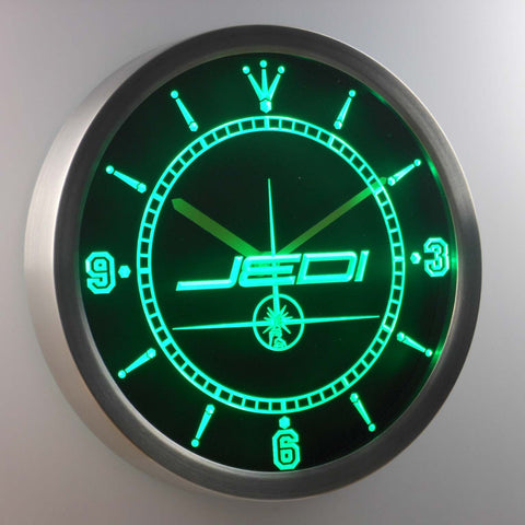 Star Wars Jedi LED Neon Wall Clock - Green - SafeSpecial