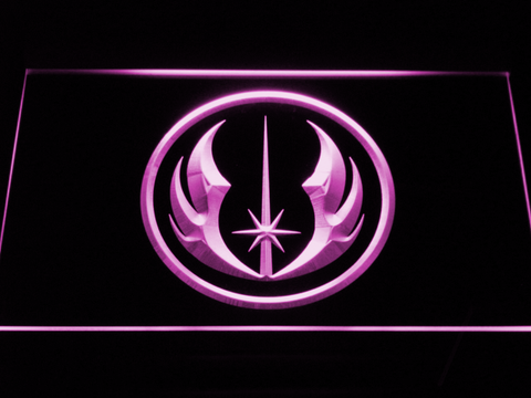 Star Wars Jedi Order LED Neon Sign - Purple - SafeSpecial
