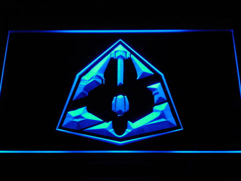 Image of Star Wars Jedi Starfighter ETA-2 LED Neon Sign - Blue - SafeSpecial