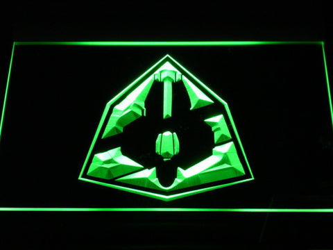 Image of Star Wars Jedi Starfighter ETA-2 LED Neon Sign - Green - SafeSpecial