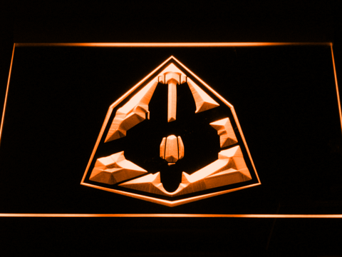 Image of Star Wars Jedi Starfighter ETA-2 LED Neon Sign - Orange - SafeSpecial