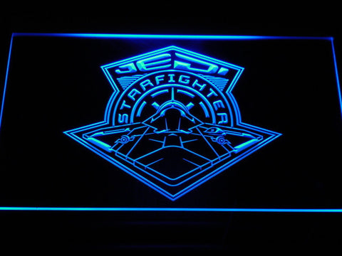 Image of Star Wars Jedi Starfighter LED Neon Sign - Blue - SafeSpecial