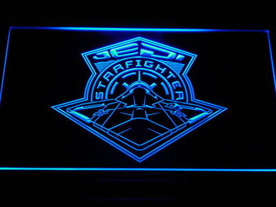 Star Wars Jedi Starfighter LED Neon Sign - Blue - SafeSpecial