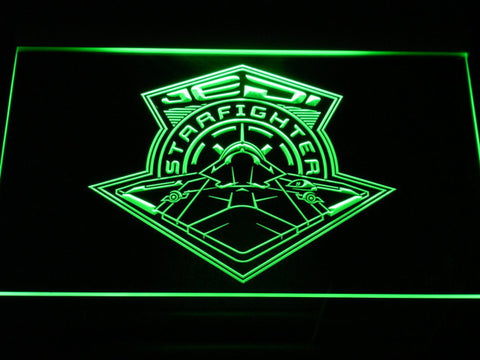 Image of Star Wars Jedi Starfighter LED Neon Sign - Green - SafeSpecial