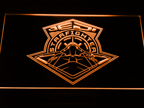 Image of Star Wars Jedi Starfighter LED Neon Sign - Orange - SafeSpecial