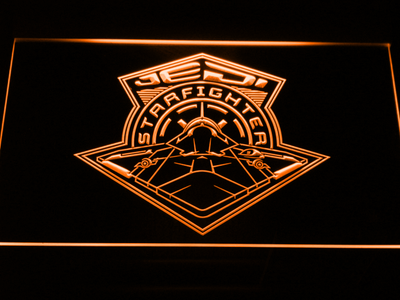 Star Wars Jedi Starfighter LED Neon Sign - Orange - SafeSpecial