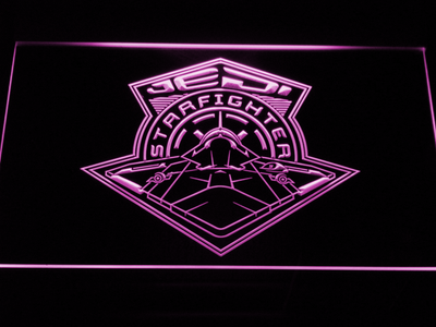 Star Wars Jedi Starfighter LED Neon Sign - Purple - SafeSpecial