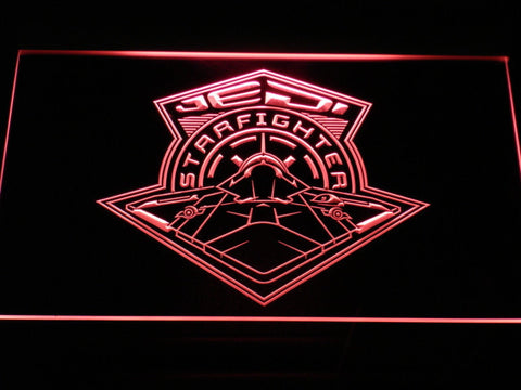 Image of Star Wars Jedi Starfighter LED Neon Sign - Red - SafeSpecial