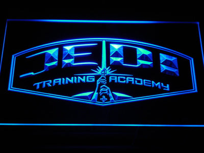 Star Wars Jedi Training Academy LED Neon Sign - Blue - SafeSpecial