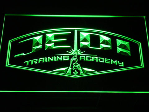Image of Star Wars Jedi Training Academy LED Neon Sign - Green - SafeSpecial